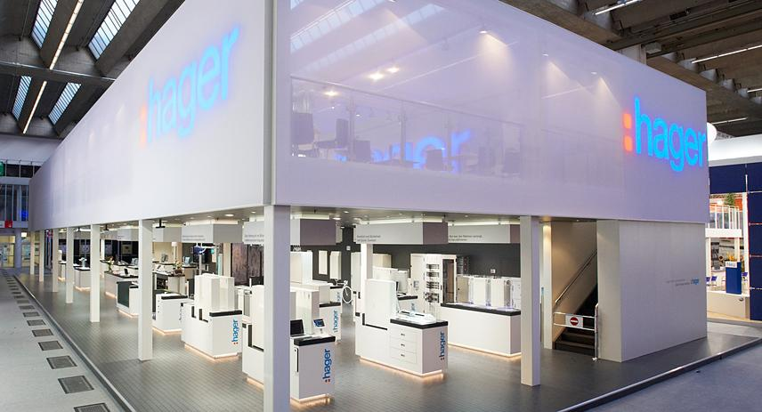 Exhibition Stand Lighting Requirements : Hager totems